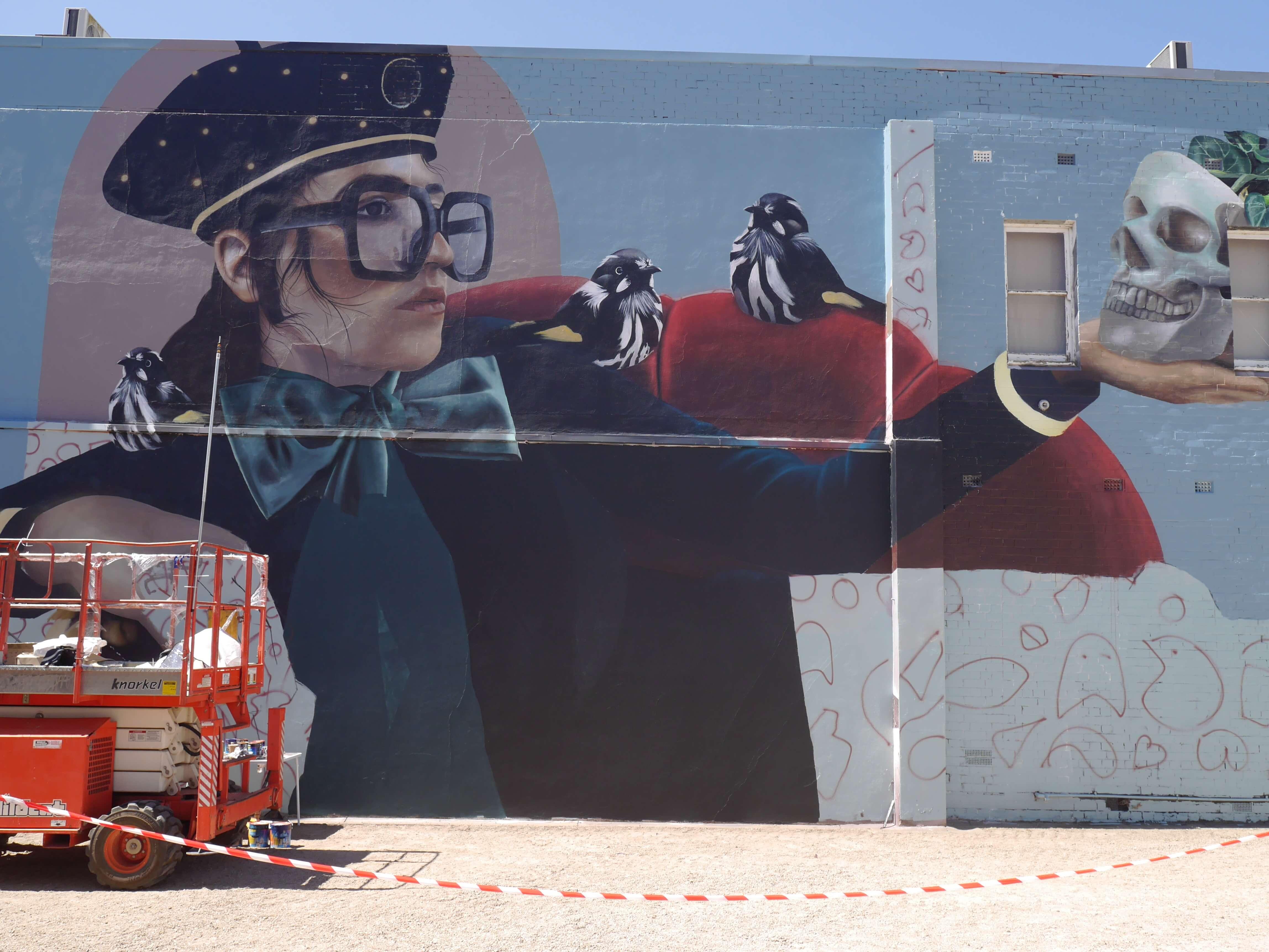 Mural-woman-artist-Lisa-King-Benalla-Victoria