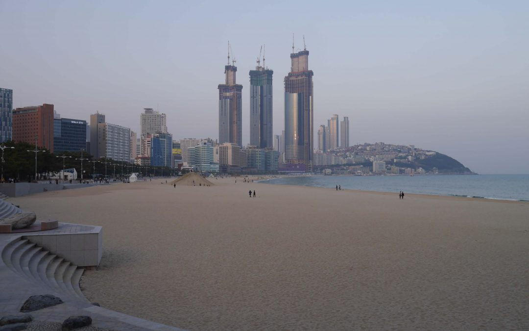 Haeundae-beach-Busan-Korea-sunset